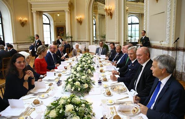 President Recep Tayyip Erdogan and his wife Emine Erdogan - King Philippe of Belgium and Queen Mathilde of Belgium
