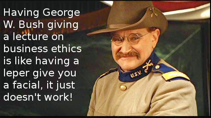 Robin Williams George Bush quote
