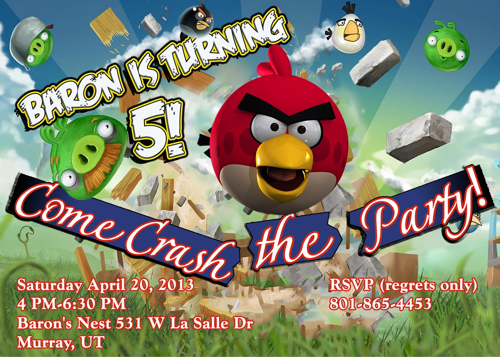 A Table For {Seven}: Baron\'s Angry Birds Party