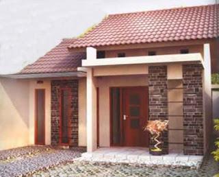 contoh denah dan desain rumah minimalis type 60 1 dan 2