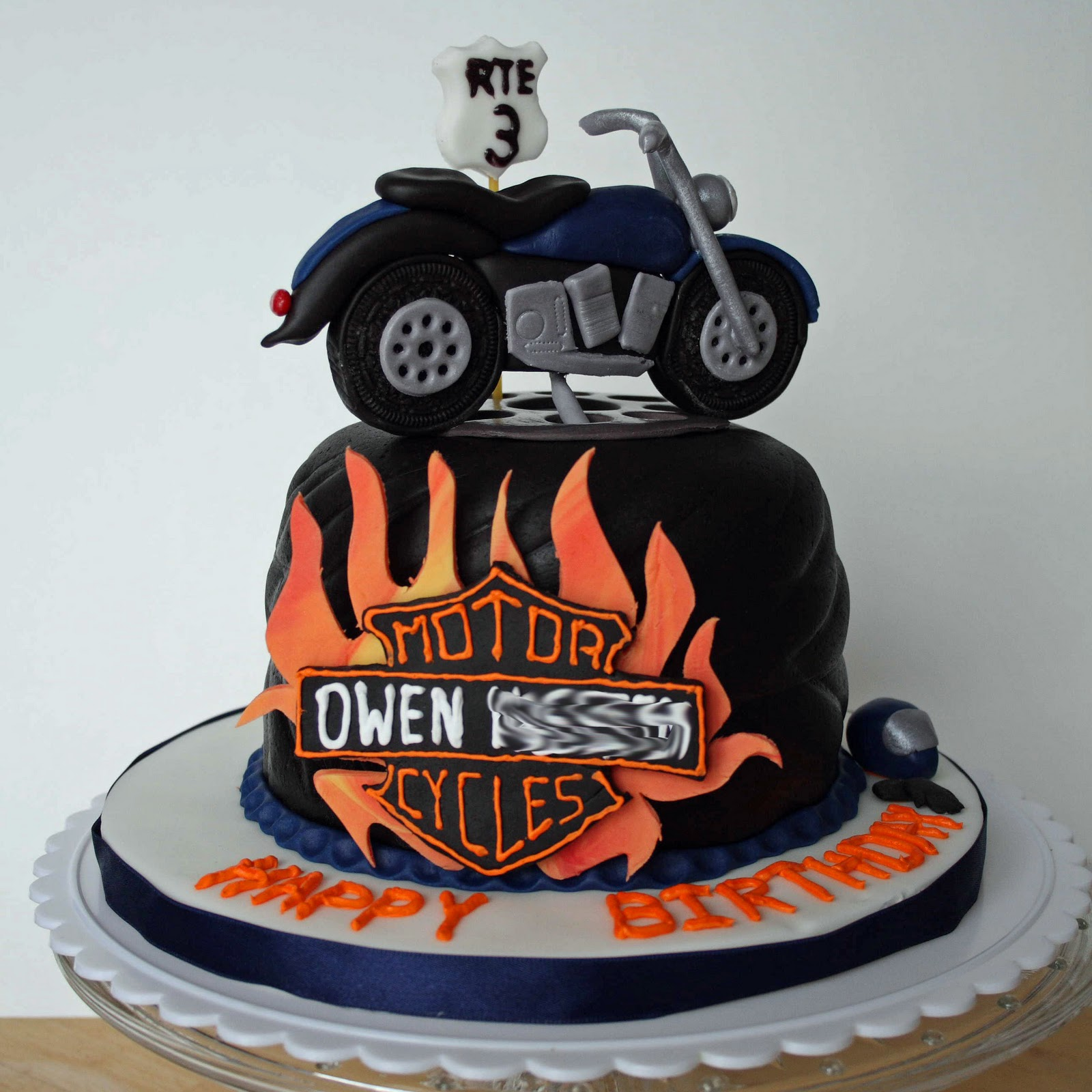 All Kinds Of Sugar Motorcycle Birthday Cake