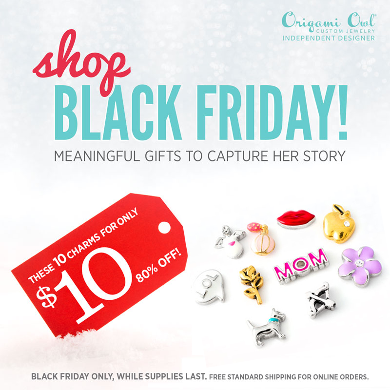 Origami Owl Black Friday: 10 Charms for $10 | Shop StoriedCharms.com