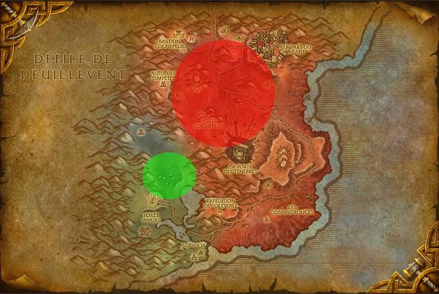 carte spot de cuir robuste dans les terres foudroyees