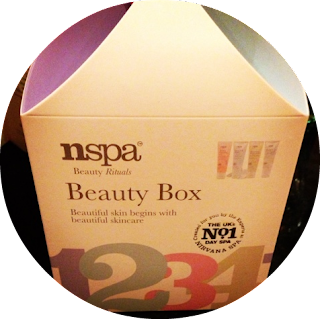 A picture of a box of NSpa items won in a raffle