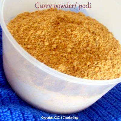 tamilian curry podi/powder
