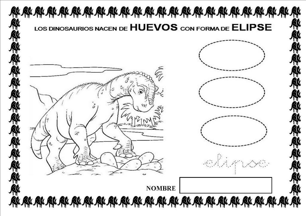 Lujoso Hojas De Trabajo De Dinosaurios JardÃn De Infancia ...