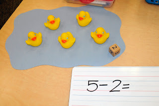 eric carle, ten little rubber ducks, duck math lesson, homeschool duck unit