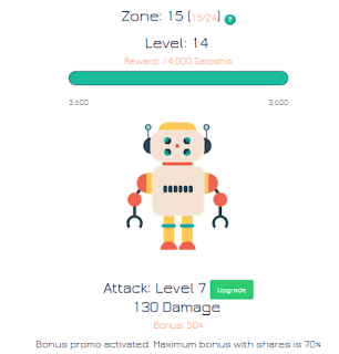 Earn FREE Bitcoin defeating robots at Robot Coin Game
