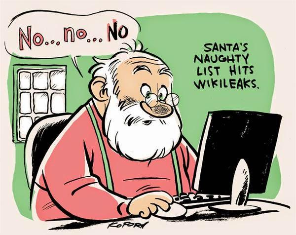 no... no... no. Santa's naughty list hits wikileaks