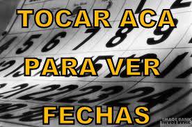 FECHAS DE CARRERAS