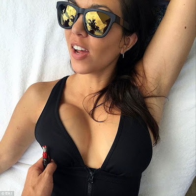 Kourtney Kardashian breast lift big soft hot