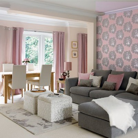 Wonderful Pink and Grey Living Room Wall 570 x 570 · 96 kB · jpeg