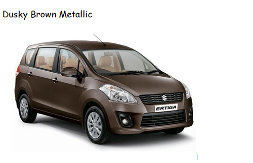 warna ertiga dusky brown metallic coklat