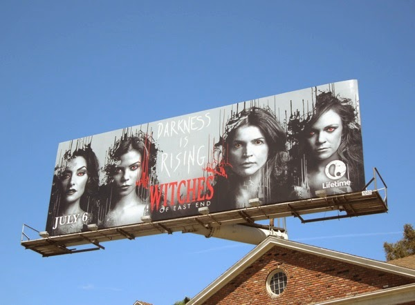Darkness is rising Witches of East End season 2 women billboard