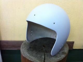 178397954 - カスタムペイント工程  ジェットヘルメット スカル クリアースピニング
