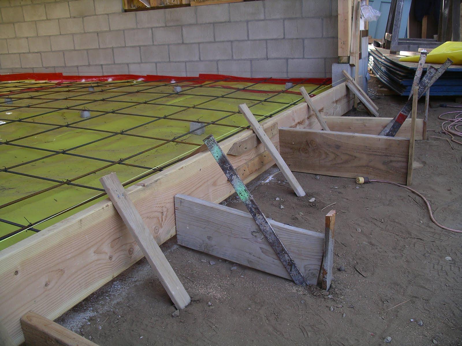 Home remodeling step by step step 18 the garage slab for Garage slabs
