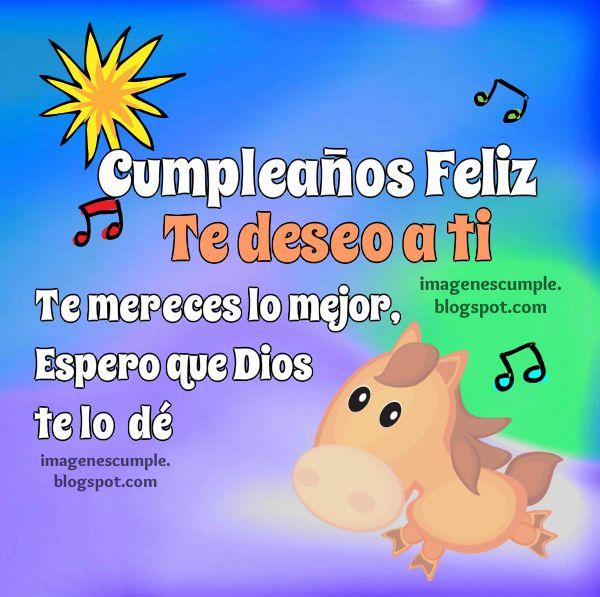 Tarjeta de cumpleaños con un mensaje con buen deseo para compartir en el día de cumple. Imagen bonita.