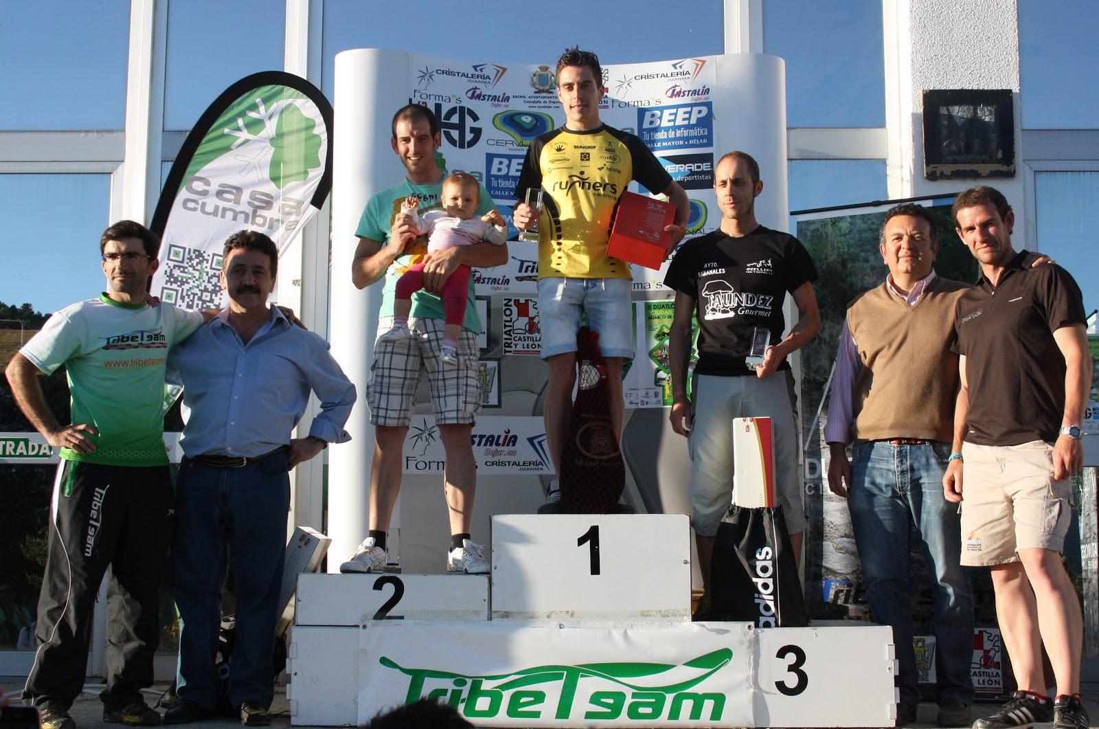 podium y entrega de premios