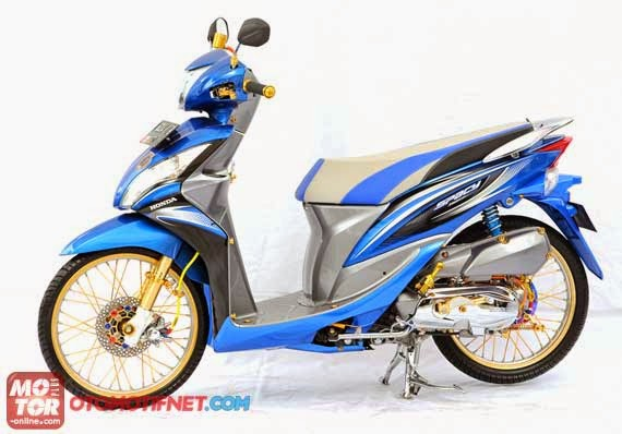 Modifikasi Motor Honda Spacy Velg Jari-Jari Terbaru 2014
