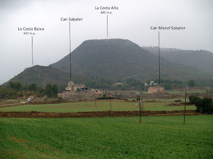Panoràmica de Can Sabater i els seus voltants