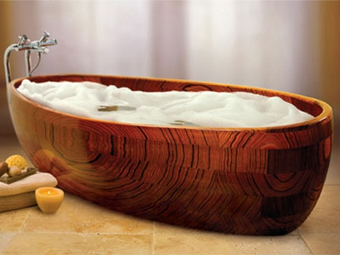 [Wooden bathtub]