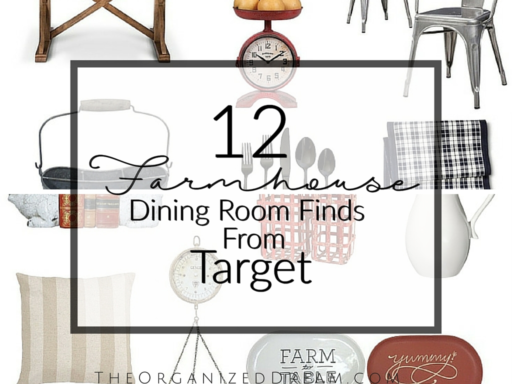 12 Farmhouse Dining Room Finds from Target - The Organized Dream