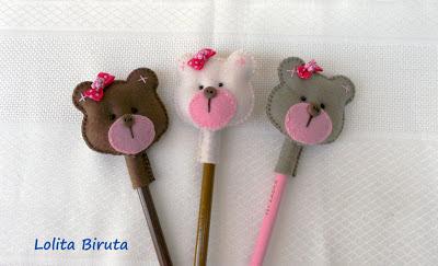 ursinhas em feltro para meninas