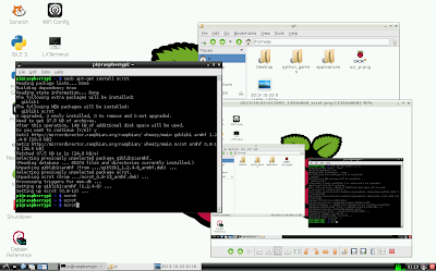 Raspberry Pi screen captured with Scrot