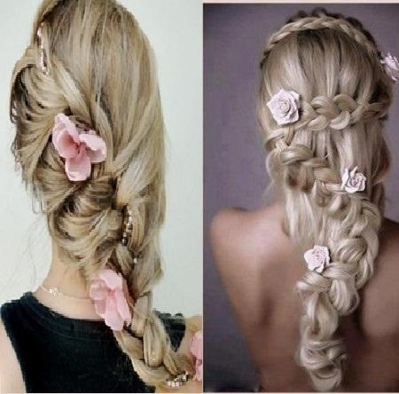 penteados com trancas loiras