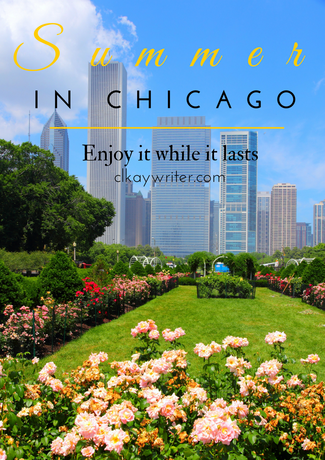 clkaywriter.com C. L. Kay Summer In Chicago Graphic Grant Park