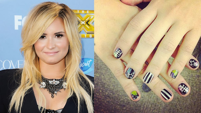 Unhas, decoradas, Demi Lovato