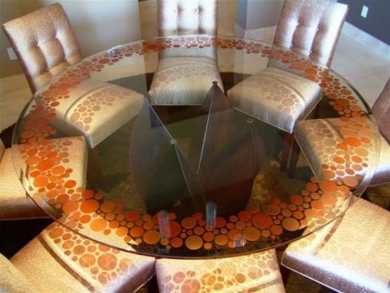 como decorar Decoração com mesa de vidro 2013