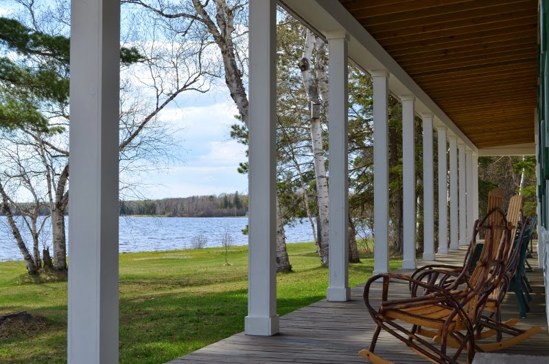 Birch  Lodge Porch, Trout Lake, MI