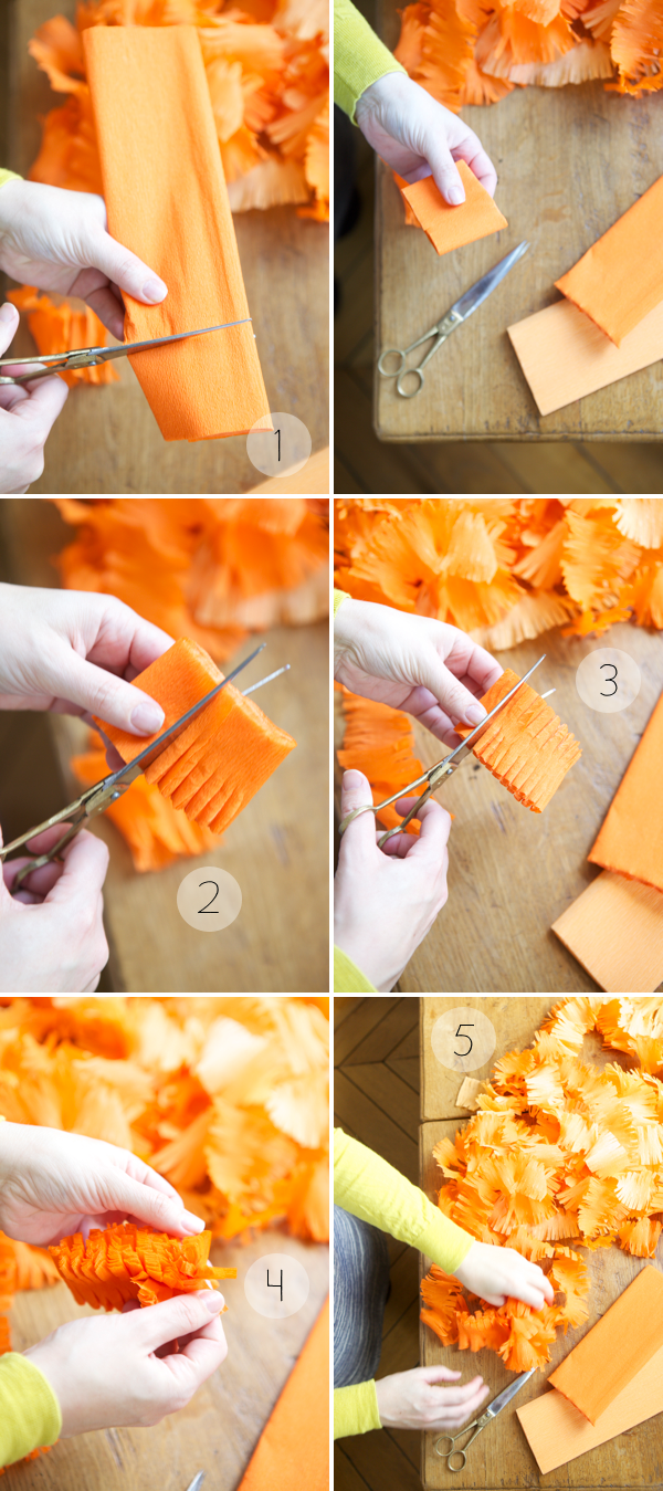 Fringey streamers diy - Birthday decorations with crepe paper ...