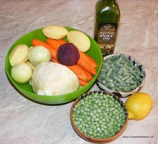 ingrediente salata de legume asortate natur fierte, retete culinare, retete cu legume, preparate din legume,