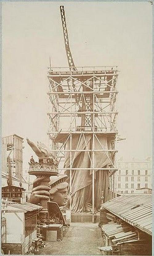 Como se construyó la estatua de la libertad. Construccion-estatua-libertad+%252810%2529