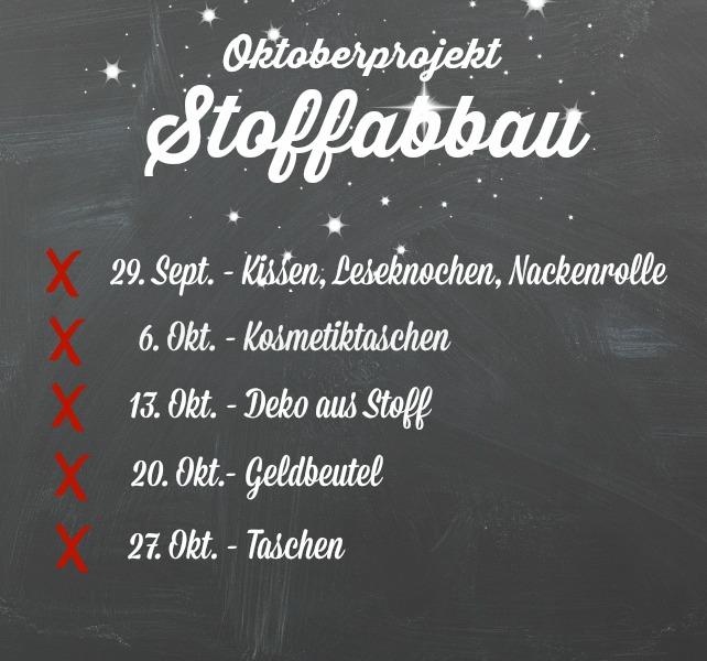 Oktoberprojekt Stoffabbau - Frühstück bei Emma