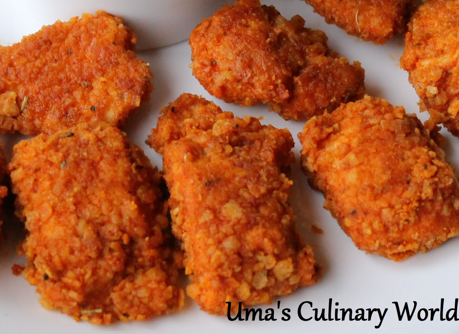 Uma's Culinary World: Baked Crunchy Chicken Nuggets