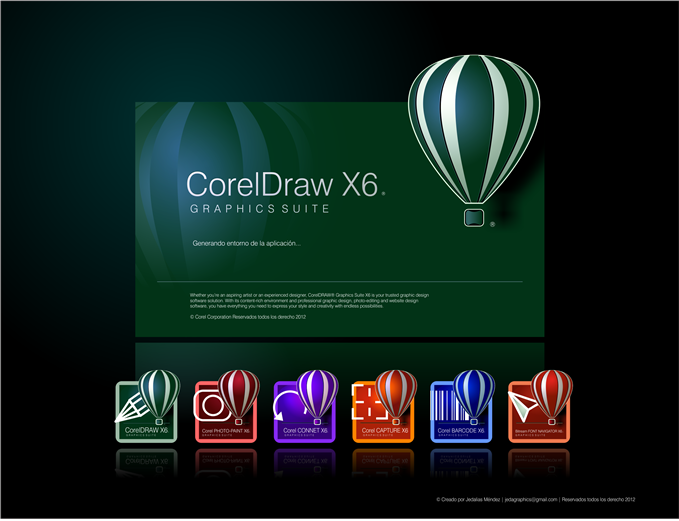corel draw graphic suite x6  with crack