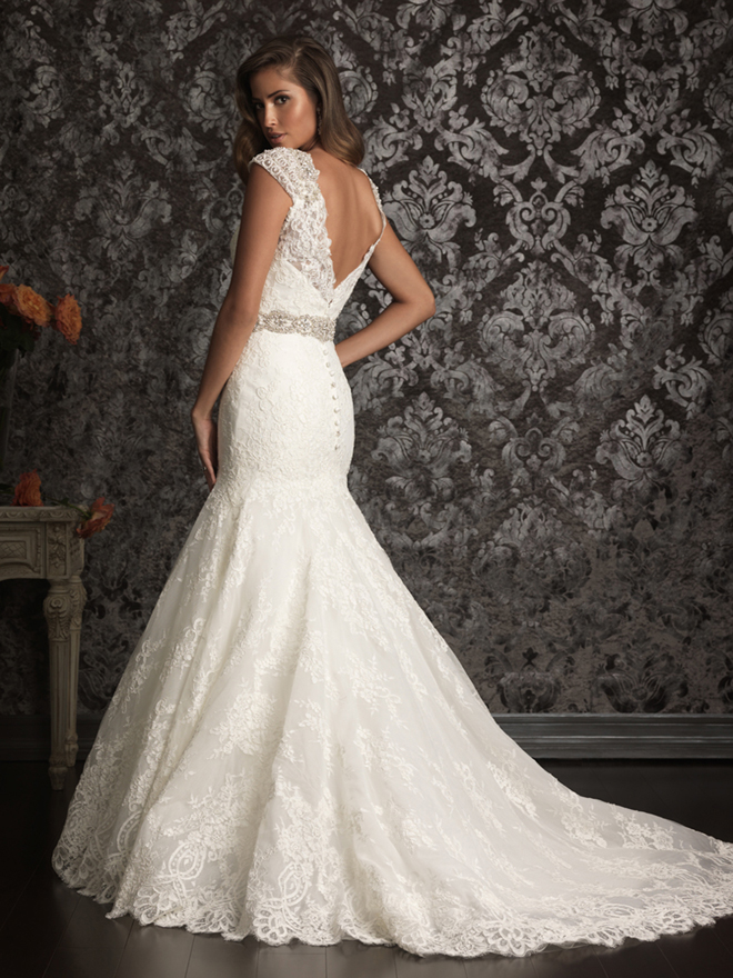 Wedding trend ideas lace back wedding dress for Wedding dresses with lace up back
