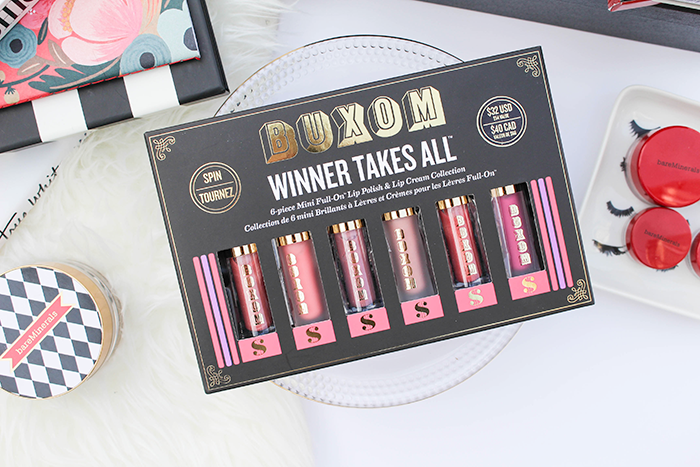 Buxom Cosmetics Holiday 2014, Buxom Winner Takes All Lip Set Review and Swatches