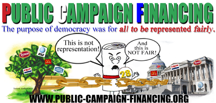 Real Voter Representation! Public Campaign Financing!