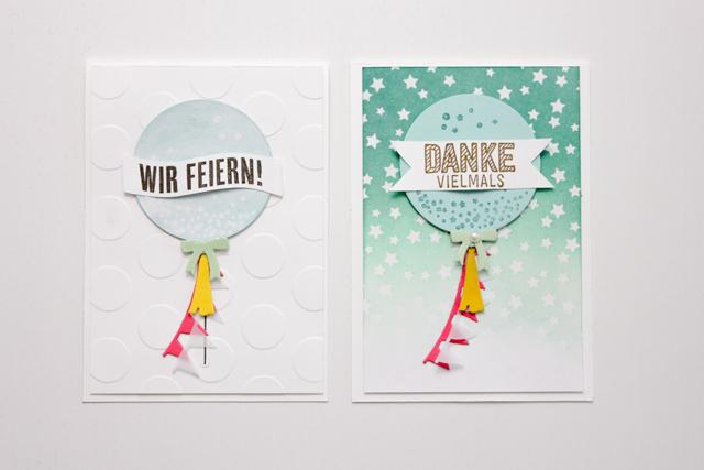 Einladungskarte mit Ombré Effekt | Janna Werner