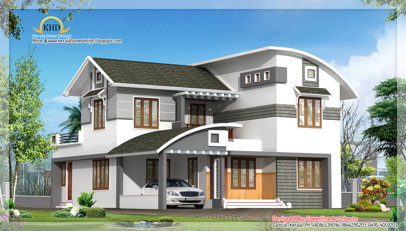 Contemporary villa design 2515 sq ft kerala home for Kerala style villa plans