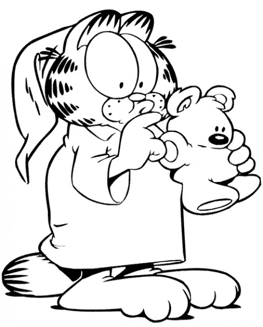 garfield coloring pages online - photo#15