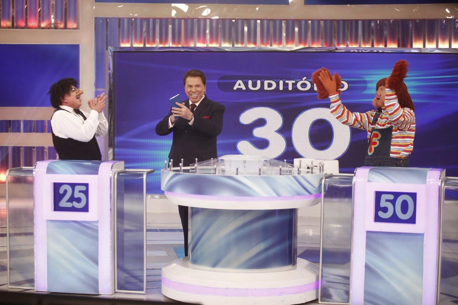 Santos, Silvio e Fofão (Crédito: Roberto Nemanis/SBT)