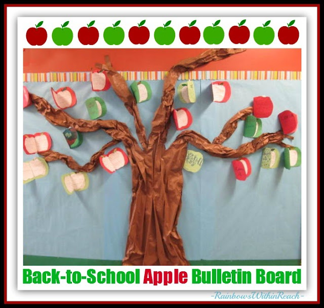 Back-to-School 3D Apple Tree Bulletin Board: RainbowsWithinReach