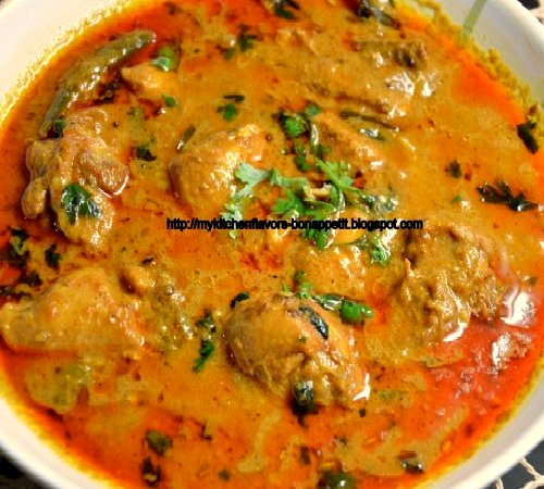 Nadan Chicken Curry - Chicken cooked in coconut milk with selective ...
