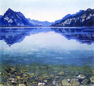 Hodler Lake Thun Landscape