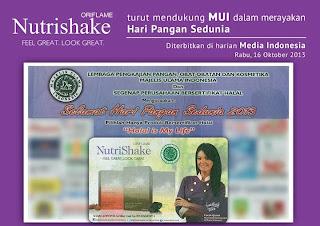 NutriShake Halal NutriShake Oriflame Halal